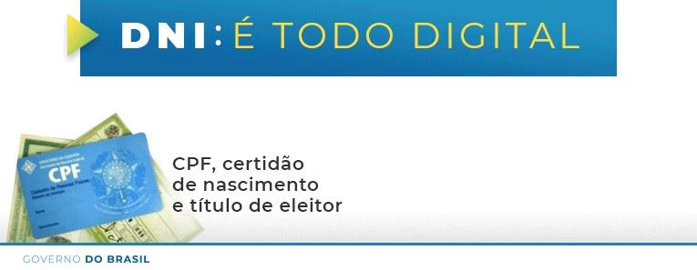 Tudo no mesmo documento: CPF, Certidão de nascimento e Título de Eleitor